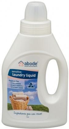 Abode Sensitive Laundry Liquid Fragrance Free 1L