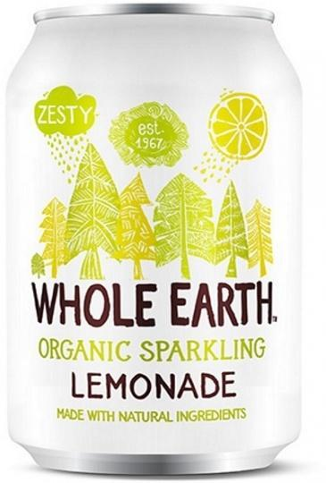 Whole Earth Drink Lightly Sparkling Lemonade Organic 330mL
