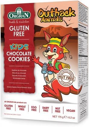 Orgran Kids Outback Animals Chocolate Cookies 175g-Health Tree Australia