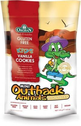 Orgran Kids Mini Outback Animals Vanilla Cookies 8 Fun Packs 175g-Health Tree Australia