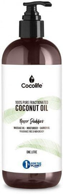Cocolife Fractionated Liquid Coconut Oil (Topical Use Only) 1Ltr-Health Tree Australia
