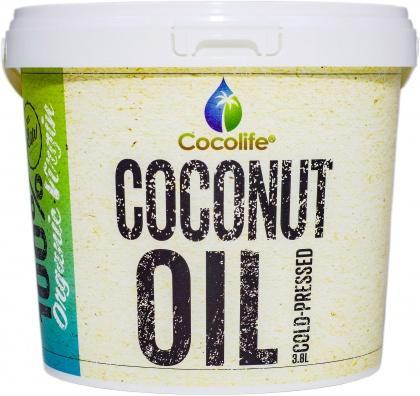 Cocolife Organic Virgin Coconut Oil Tub G/F 3.8L-Health Tree Australia