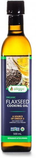 Alligga Hi Heat Organic Flaxseed Cooking Oil 500ml-Health Tree Australia