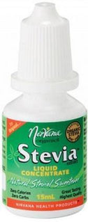 Nirvana Organics Stevia Liquid Concentrate 15ml-Health Tree Australia