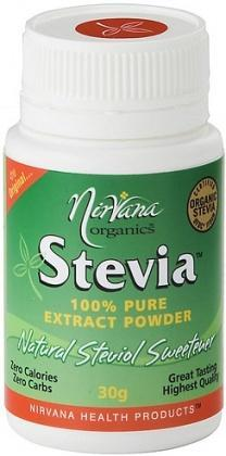 Nirvana Organics Stevia Pure Extract Powder 30g