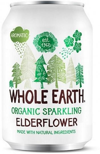 Whole Earth Drink Lightly Sparkling Elderflower Organic 330mL