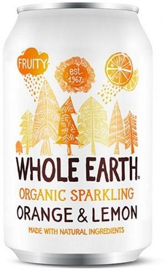 Whole Earth Drink Lightly Sparkling Orange & Lemon Organic 330ml