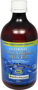 Medicines From Nature Ultimate Colloidal Silver100PPM Liquid 500ml