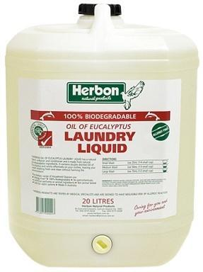 Herbon Fragrance Free Laundry Liquid 20lt