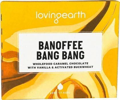 Loving Earth Organic Banoffee Bang Bang Chocolate Bar G/F 11x45g-Health Tree Australia