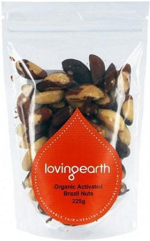 Loving Earth Organic Activated Brazil Nuts 225g-Health Tree Australia