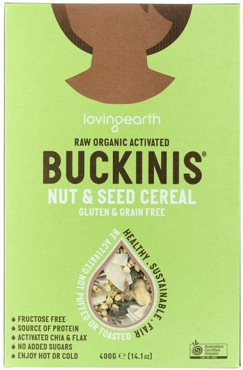 Loving Earth Raw Organic Buckinis - Nut & Seed Cereal G/F 400g-Health Tree Australia