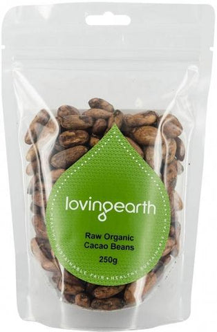 Loving Earth Cacao Beans 250g-Health Tree Australia