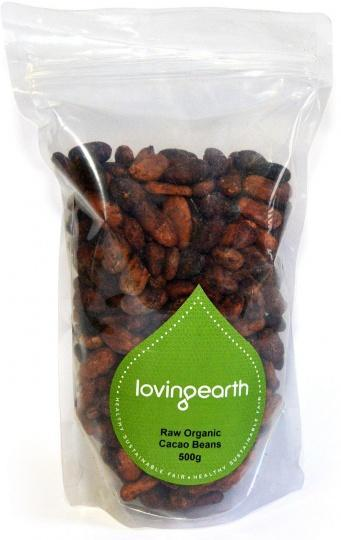 Loving Earth Cacao Beans 500g-Health Tree Australia