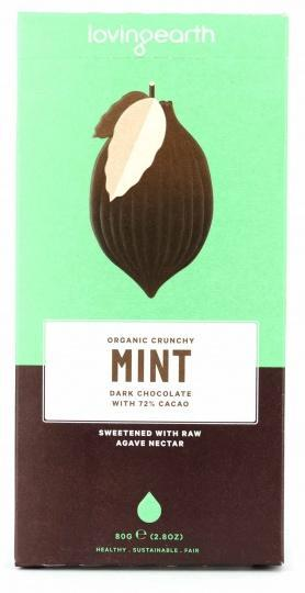 Loving Earth Organic Crunchy Mint Dark Chocolate 80g