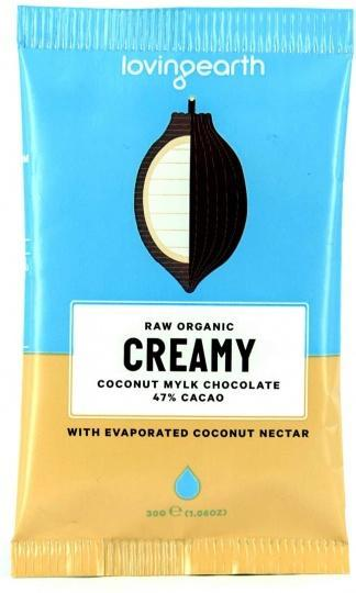 Loving Earth Raw Organic Creamy Coconut Mylk Chocolate 16x30g-Health Tree Australia