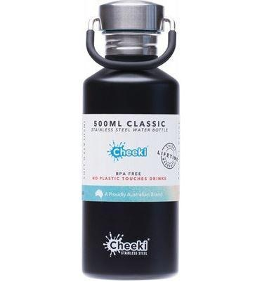 Stainless Steel Bottle  Matte Black 500ml