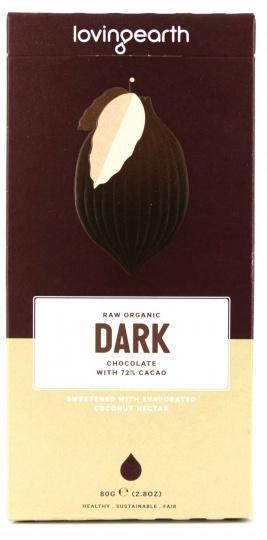 Loving Earth Raw Organic Dark Chocolate 80g-Health Tree Australia