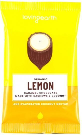 Loving Earth Organic Lemon Caramel Chocolate 16x30g-Health Tree Australia
