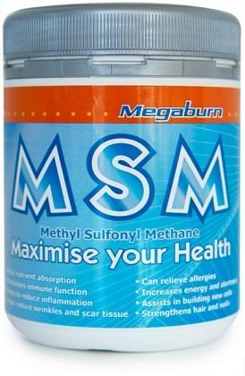 Megaburn MSM Powder 400g-Health Tree Australia