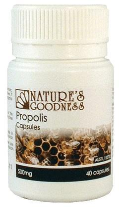 Natures Goodness Propolis Capsules 500mg/40s-Health Tree Australia