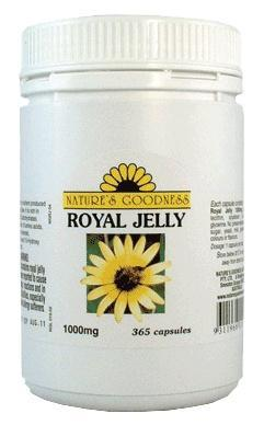 Natures Goodness Royal Jelly 1000mg Capsules/365s-Health Tree Australia