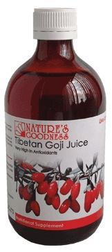 Natures Goodness Tibetan Goji Juice 500ml