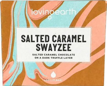Loving Earth Organic Salted Caramel Swayzee Chocolate Bar G/F 11x45g