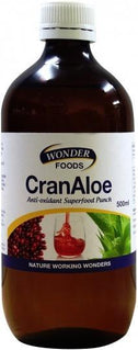 Wonderfoods CranAloe 500ml-Health Tree Australia