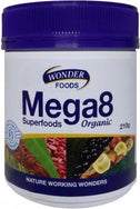 Wonderfoods Mega8 Superfoods Organic 210g-Health Tree Australia