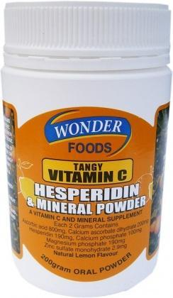 Wonderfoods Tangy Vitamin C Powder 200gm-Health Tree Australia
