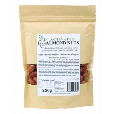 Raw Activated Almonds 250g - ACTIFOODS