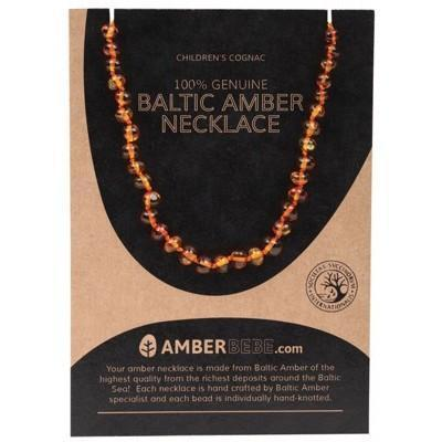 Cognac Child Necklace 33cm - AMBERBEBE
