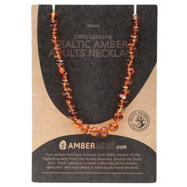 Cognac Adult Necklace 44cm - AMBERBEBE