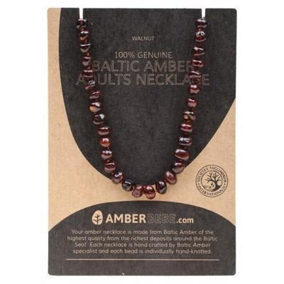Walnut Adult Necklace 44cm - AMBERBEBE