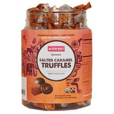 Salted Caramel Truffles Tub 60x12g - ALTER ECO