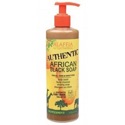 Peppermint Black Soap 475ml - ALAFFIA