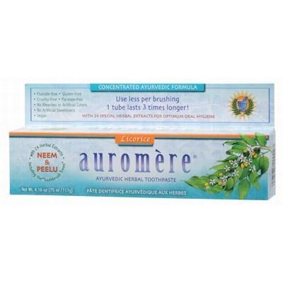 Licorice Toothpaste 117g - AUROMERE