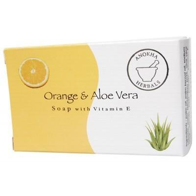 Orange & Aloe Soap 100g - ANOKHA