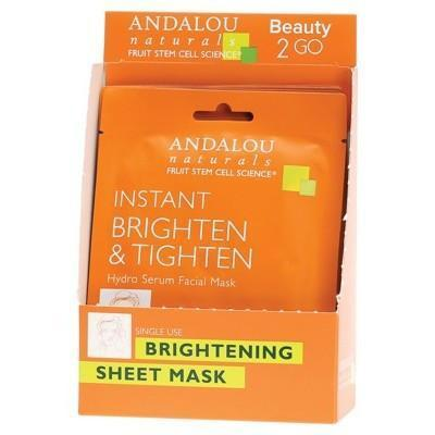 Sheet Mask - Instant Brighten 6x18ml - ANDALOU NATURALS