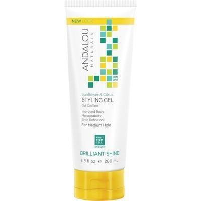 Styling Gel Citrus & Sunflower Medium Hold 200ml - ANDALOU NATURALS
