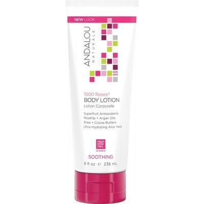 Body Lotion Soothing 1000 Roses 236ml - ANDALOU NATURALS