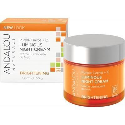 Night Cream Purple Carrot Luminous 50ml - ANDALOU NATURALS