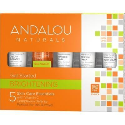 Brightening Get Started - 5 Mini's - ANDALOU NATURALS