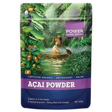 Acai Berry Powder 100g - POWER SUPER FOODS