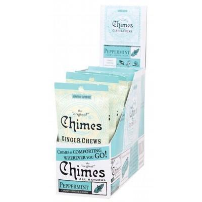 Peppermint Ginger Chews 12x42.5g - CHIMES