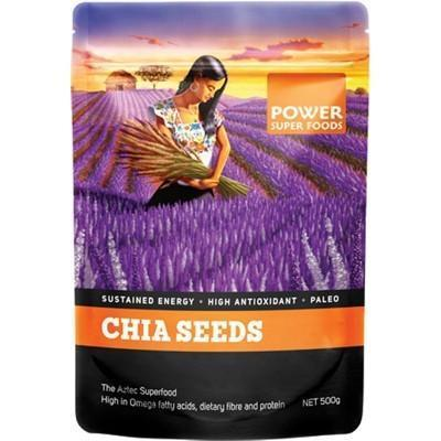Chia Seeds Black+White 500g - POWER SUPER FOODS