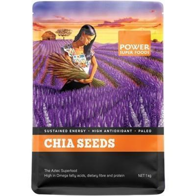 Chia Seeds Black+White 1kg - POWER SUPER FOODS