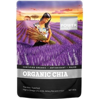 Chia Seeds Organic 450g - POWER SUPER FOODS