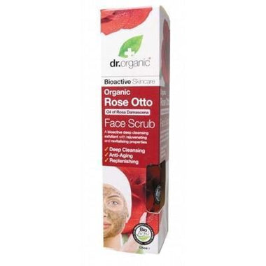 Rose Face Scrub 125ml - DR ORGANIC